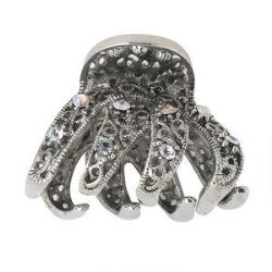 Victoria's European Mini Silver Jeweled Claw