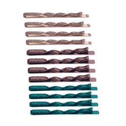 Victoria's European Fall Color Swirl Bobby Pins
