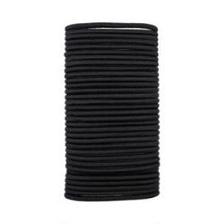 Victoria's European Black No Crimper Medium Thick Elastics - 33ct