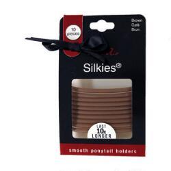 Mia Silkies Silicone Hair Elastics - Brown