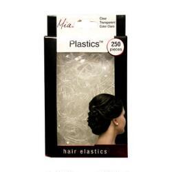Mia Silkies Plastic Elastics - Clear