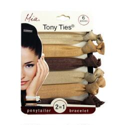 Mia Tony Ties - Champagne, Beige & Chocolate Brown