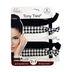 Mia Tony Ties Black, White & Houndstooth