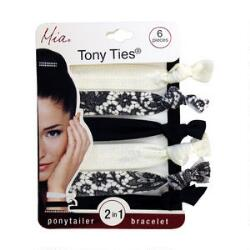 Mia Tony Ties- Black, Cream & Lace
