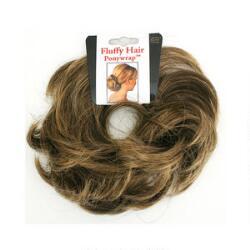 Mia Fluffy Hair Ponywrap - Light Brown