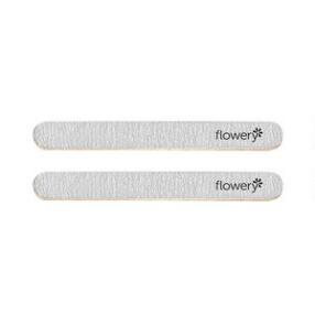 Flowery Silver Streak Nail File 2pk