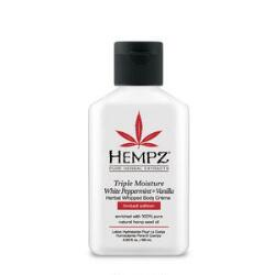 Hempz Triple Moisture White Peppermint & Vanilla Herbal Whipped Body Creme Travel Size - Limited Edition