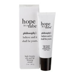 philosophy hope in a tube, eye and lip firming cream