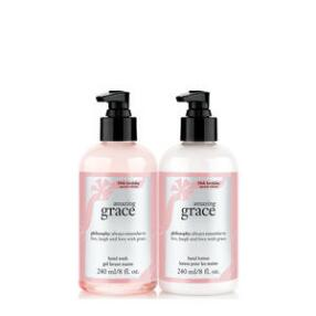 philosophy amazing grace 20th anniversary hand wash & lotion duo set