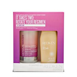Redken Genius Wash Cleansing Conditioner Coarse Hair Kit
