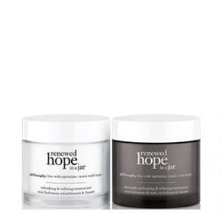philosophy renewed hope in a jar day & renewed hope in a jar night duo set