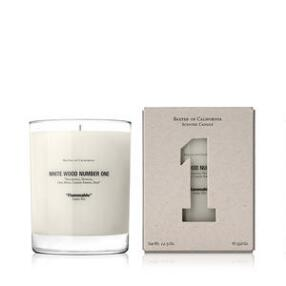 Baxter of California White Wood One Candle