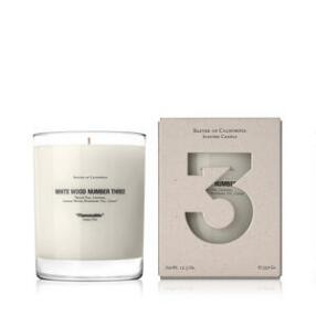 Baxter of California White Wood Three Candle