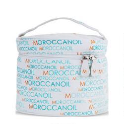 Moroccanoil White Round Travel Case