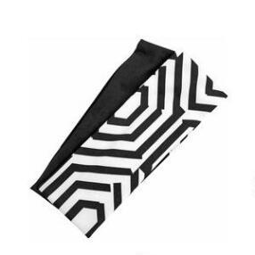 Victoria White And Black Geometric Headwrap Duo