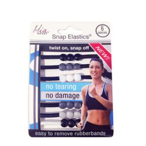 Mia Sport Snap Elastics - Set of 6