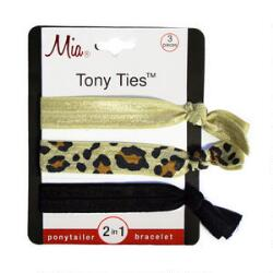 Mia Tony Tie - Beige, Leopard & Black
