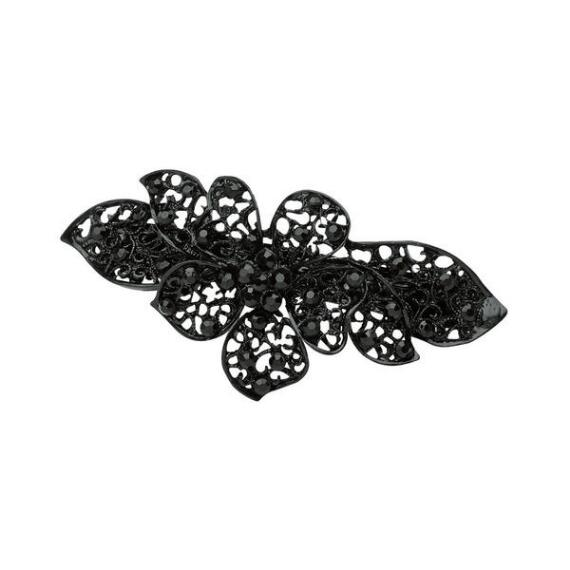 Victoria's European Black Metal Barrette