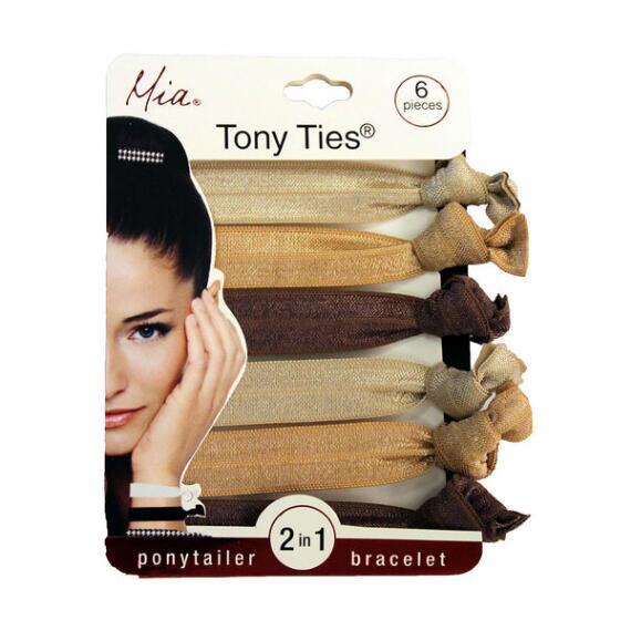 Mia Tony Ties - Champagne, Beige & Chocolate Brown