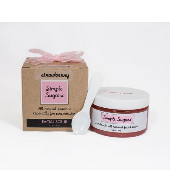 Simple Sugars Strawberry Facial Scrub