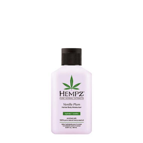 Hempz Vanilla Plum Herbal Moisturizer Travel Size