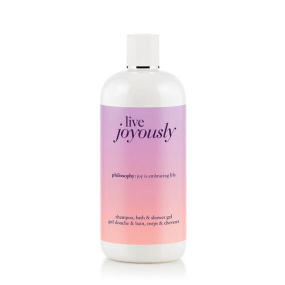 philosophy live joyously shampoo, shower gel & bubble bath