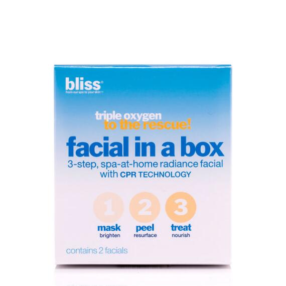 bliss Triple Oxygen Rescue Facial in a Box