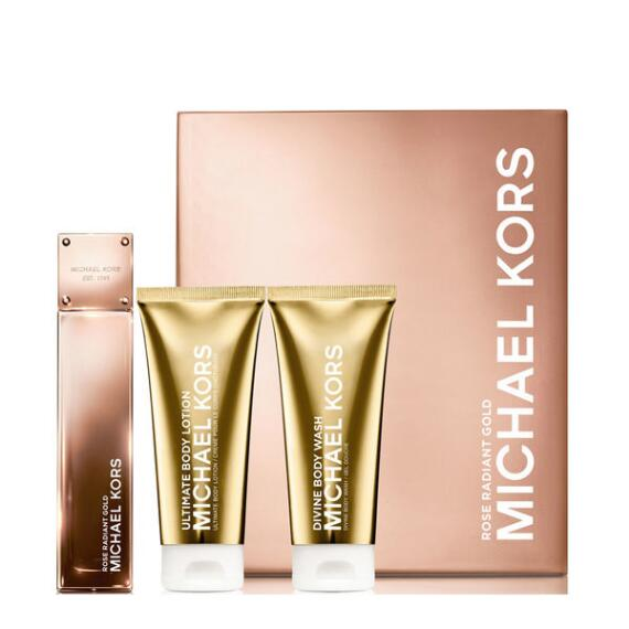 Michael Kors Gold Collection Rose Radiant Gold Gift Set ($158 value)