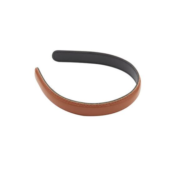 Victoria Camel Color Faux Leather Headband