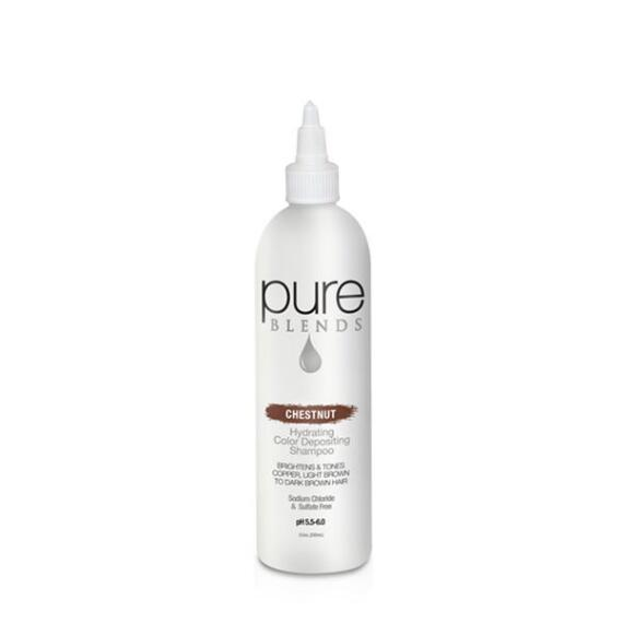 pure BLENDS Chestnut Hydrating Color Depositing Shampoo