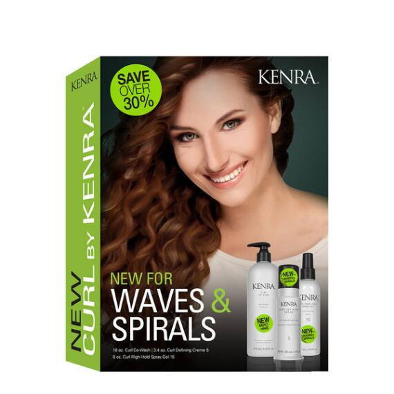 Kenra Professional Waves & Spirals Curl Trio Kit