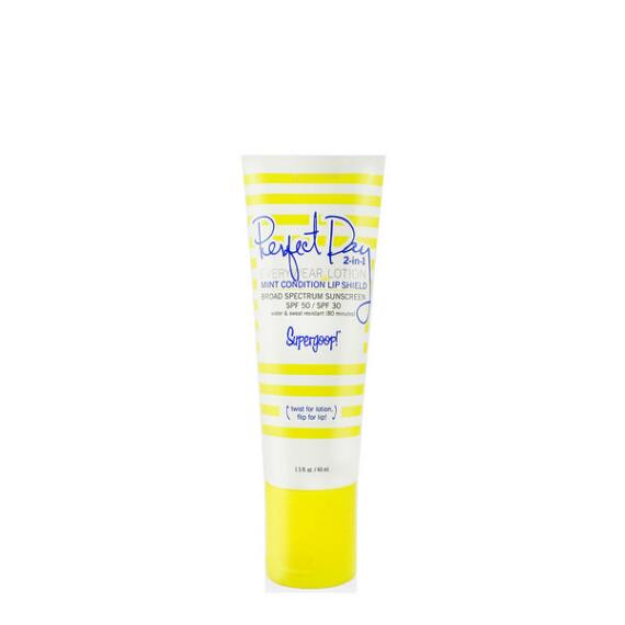 Supergoop! Perfect Day 2 in 1 EveryWear SPF 50 Lotion and MintCondition Lip Shield SPF 30