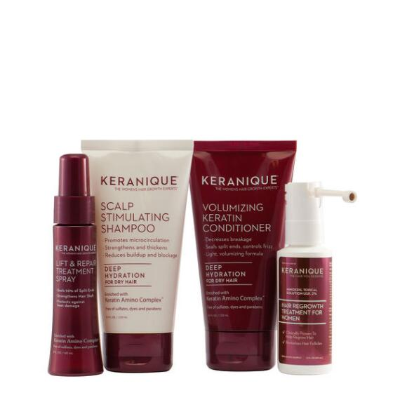 Keranique Deluxe Regrowth with Deep Hydration 4-Piece Kit
