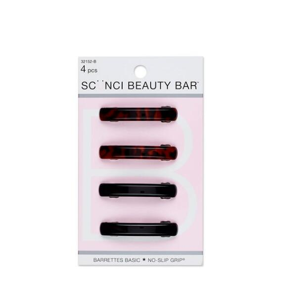 Conair Scunci Beauty Bar No Slip Barrettes 4-Pack