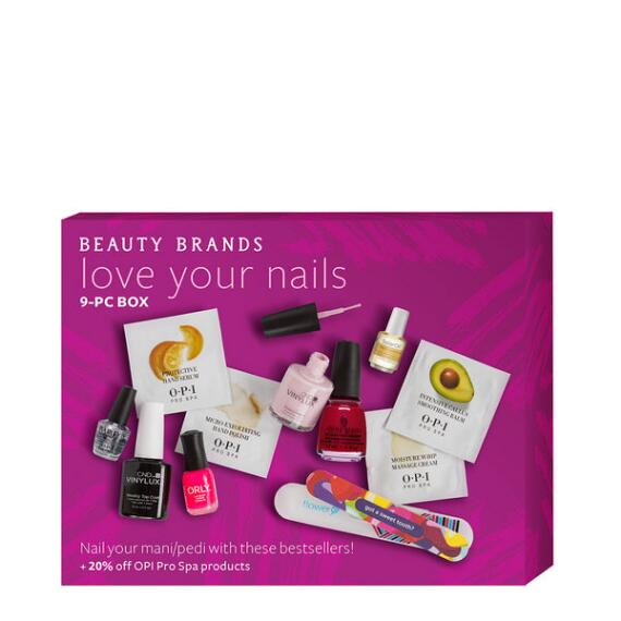 Beauty Brands Love Your Nails 9 piece Box