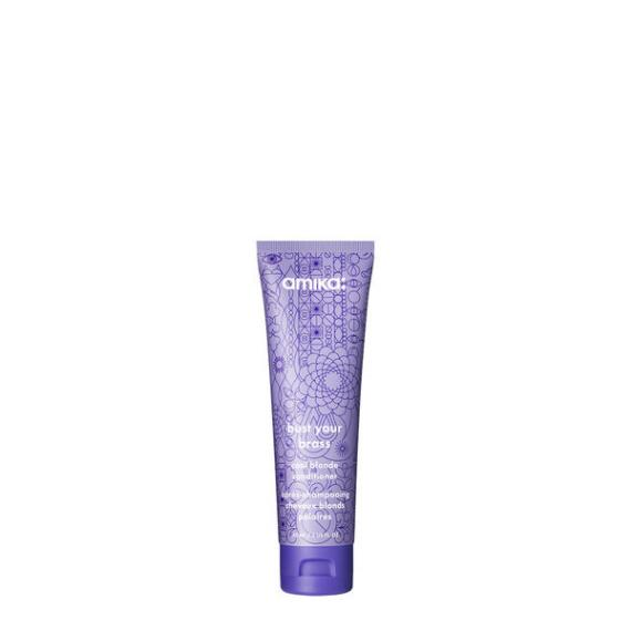 amika Bust Your Brass Cool Blonde Conditioner Travel Size