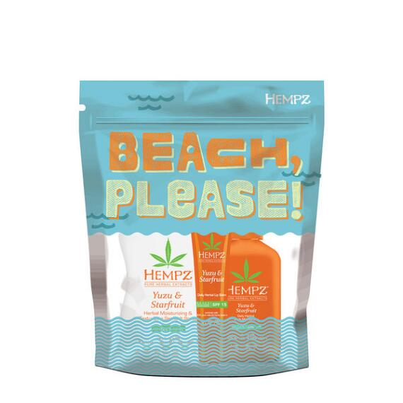 Hempz Beach Please Yuzu and Starfruit 3-Piece Set
