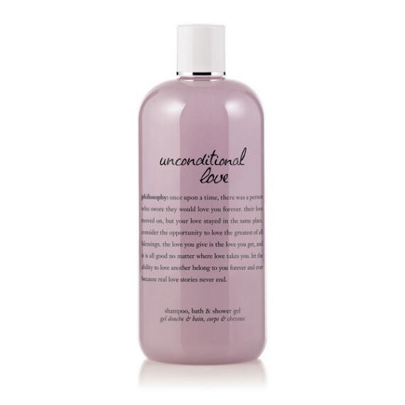 philosophy unconditional love shampoo, shower gel & bubble bath