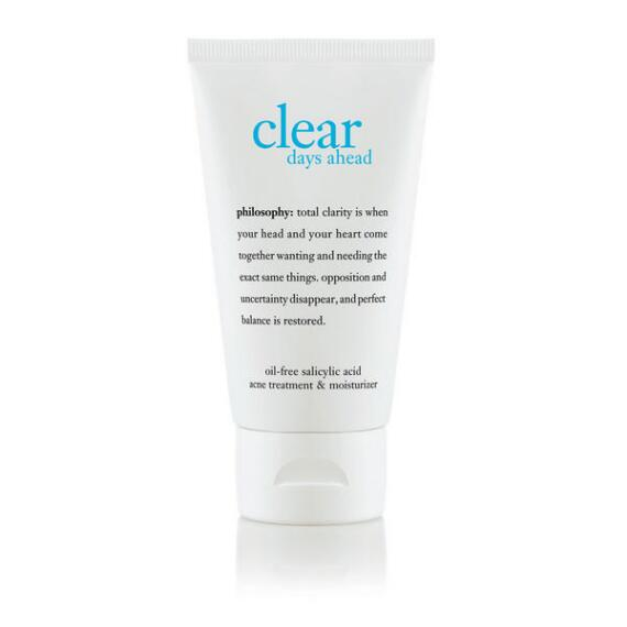 philosophy clear days ahead 2-in-1 acne treatment and moisturizer
