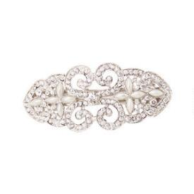 Victoria's Euorpean Silver Barrette with Pearls