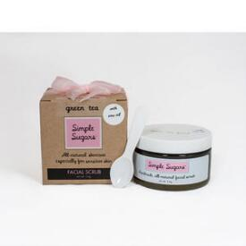 Simple Sugars Green Tea Facial Scrub with Emu Oil
