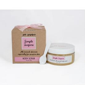 Simple Sugars Pink Grapefruit Body Scrub