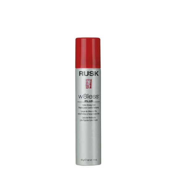 RUSK Designer Collection W8less Plus Extra Strong Hold Shaping and Control Hairspray Travel Size