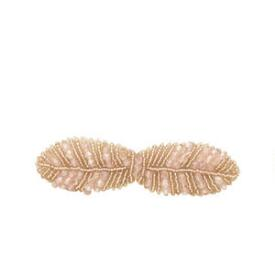 Victoria's European Beaded Champagne Barrette