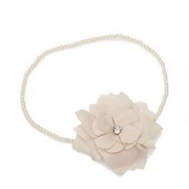Victoria's European Pearl & Flower Headwrap