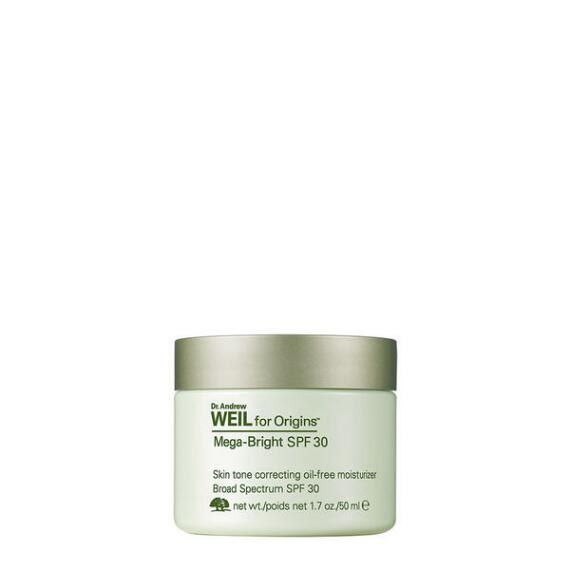 Dr. Andrew Weil For Origins Mega-Bright SPF 30 Skin Tone Correcting Oil-free Moisturizer