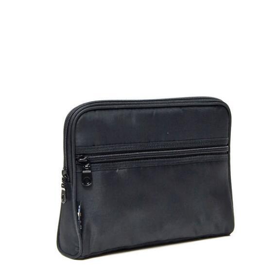 Modella Basics Black Front Zip Triangle Organizer