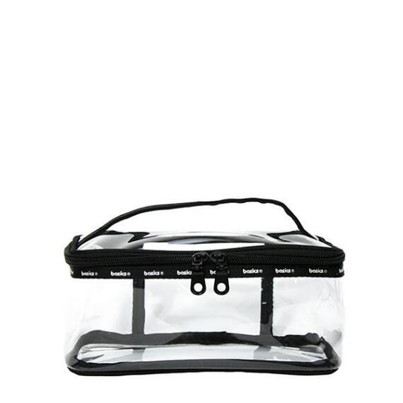 Modella Basics Clear Train Case