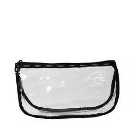 Modella Basics Clear Zip Top Clutch
