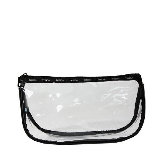 Modella Basics Clear Zip Top Clutch